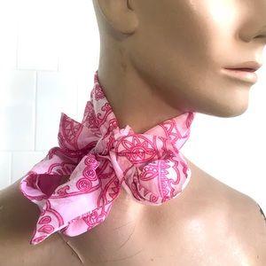 Vintage 1960's mod pink paisley scarf headband